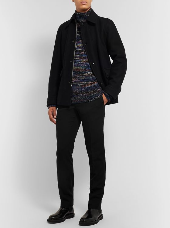 Dries Van Noten Black Slim-Fit Tapered Wool Trousers