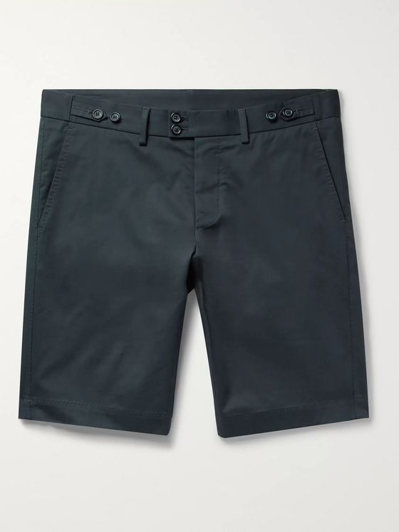 Dolce & Gabbana Slim-Fit Stretch-Cotton Gabardine Shorts