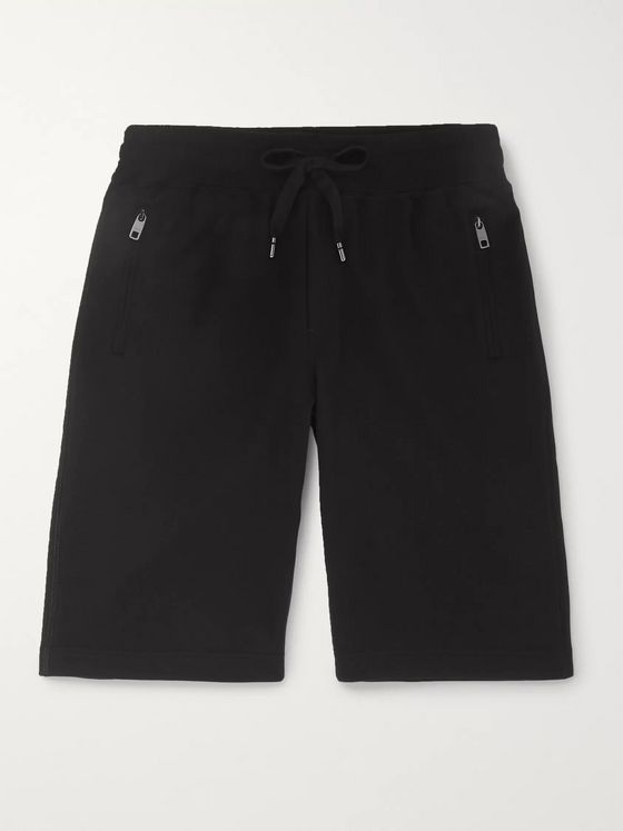 Dolce & Gabbana Loopback Cotton-Jersey Shorts