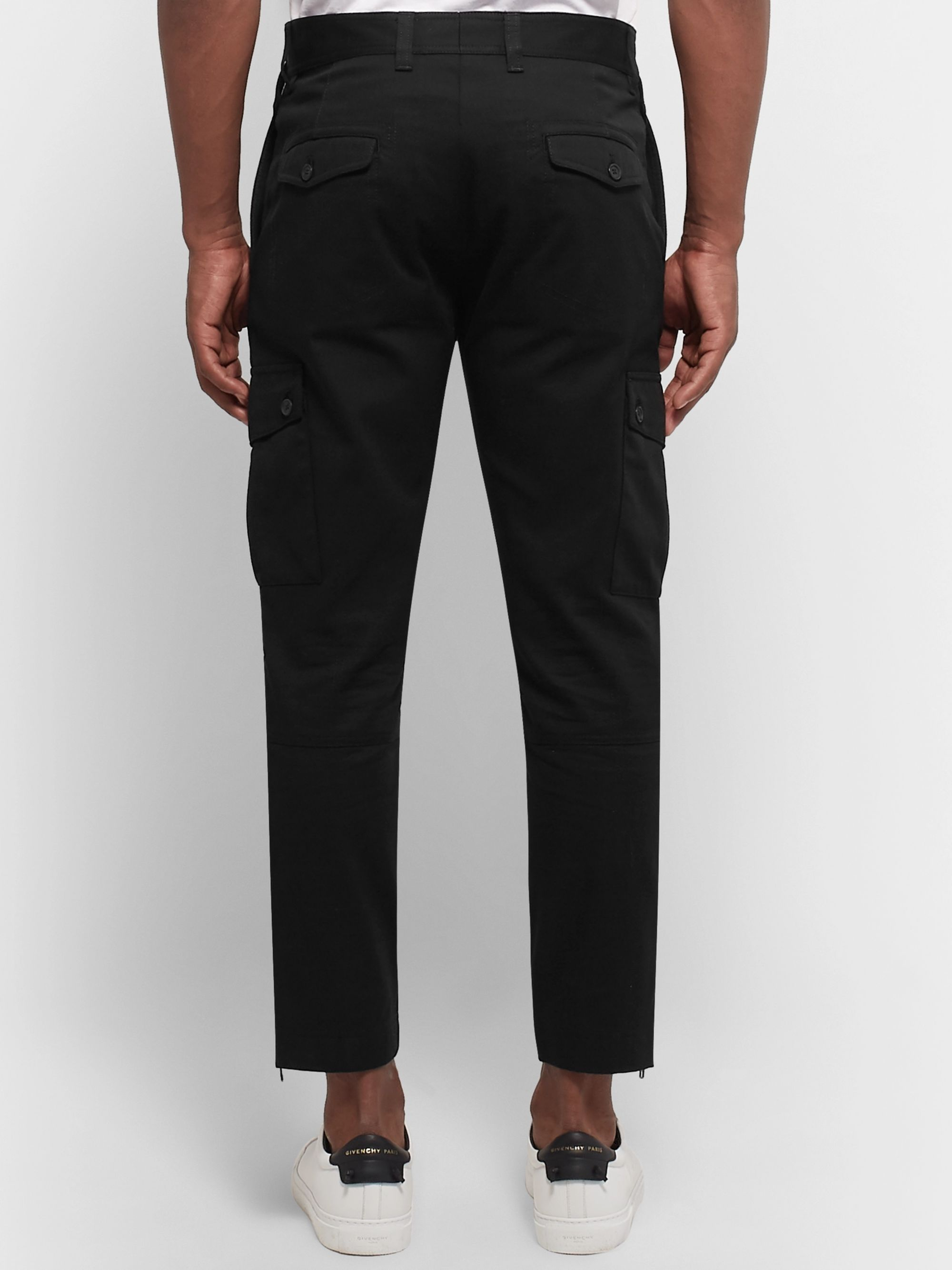 Dolce & Gabbana Slim-Fit Cotton-Blend Twill Cargo Trousers
