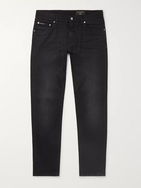 Dolce & Gabbana Slim-Fit Washed-Denim Jeans