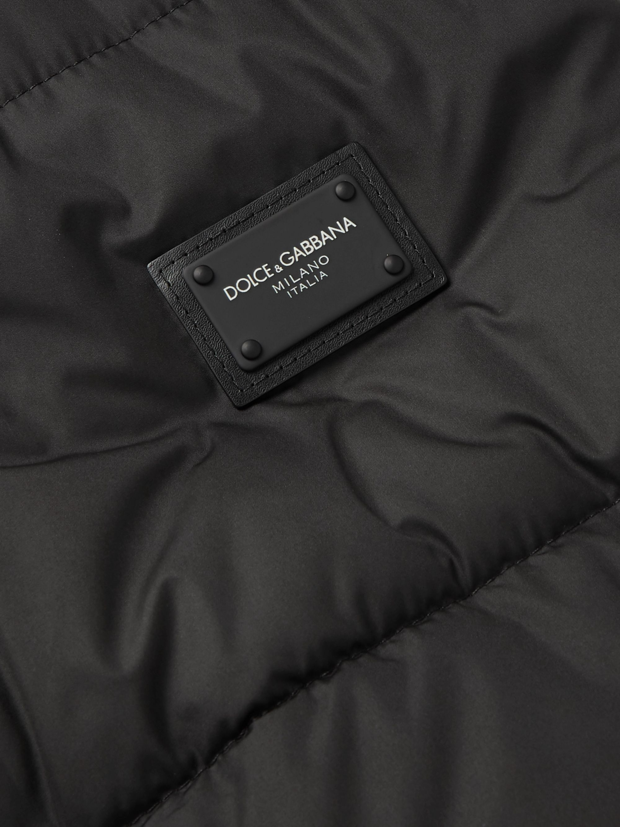 Dolce & Gabbana Slim-Fit Logo-Appliquéd Quilted Shell Gilet