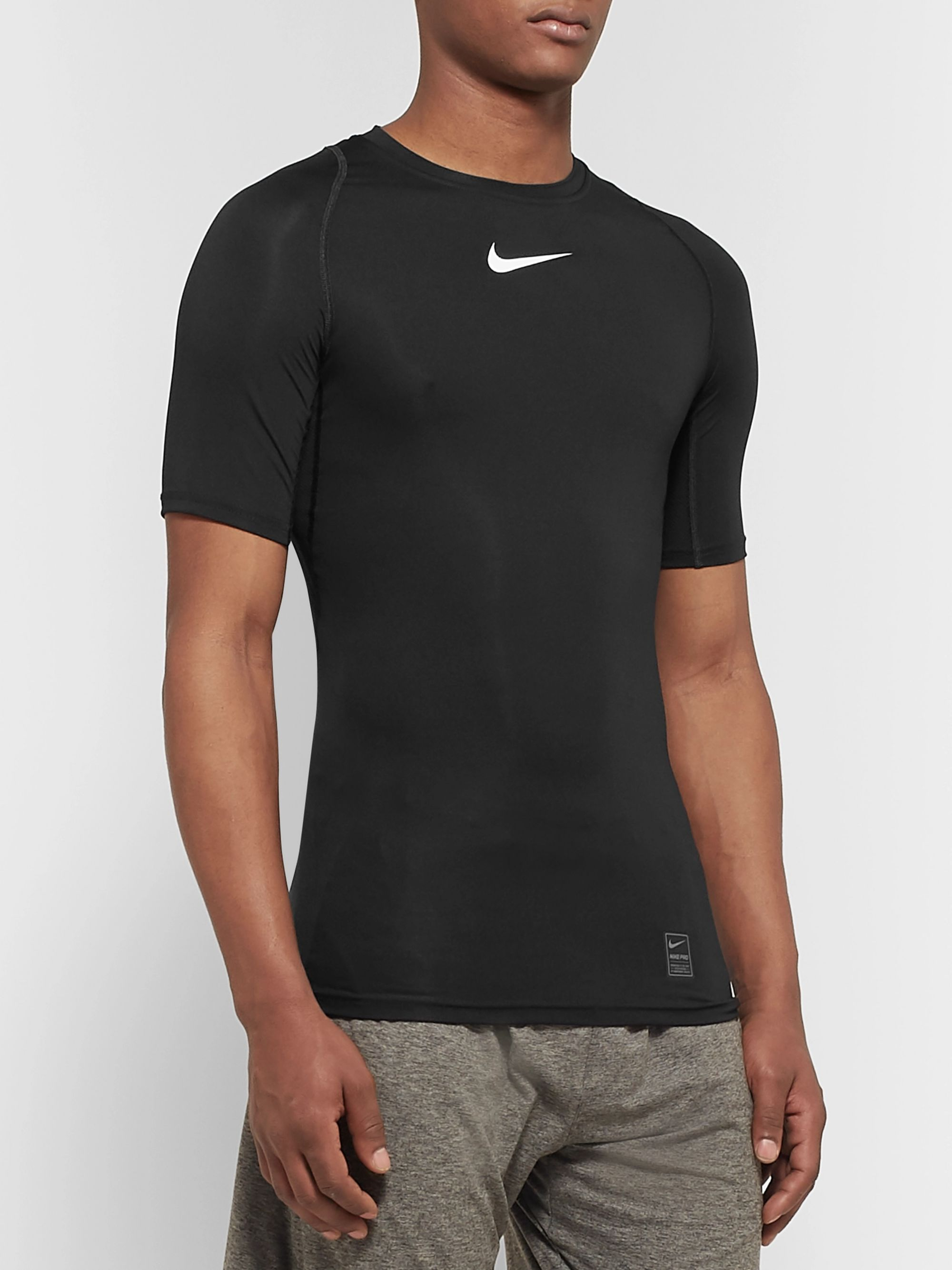 Nike Training Pro Mesh-Panelled Dri-FIT Compression T-Shirt