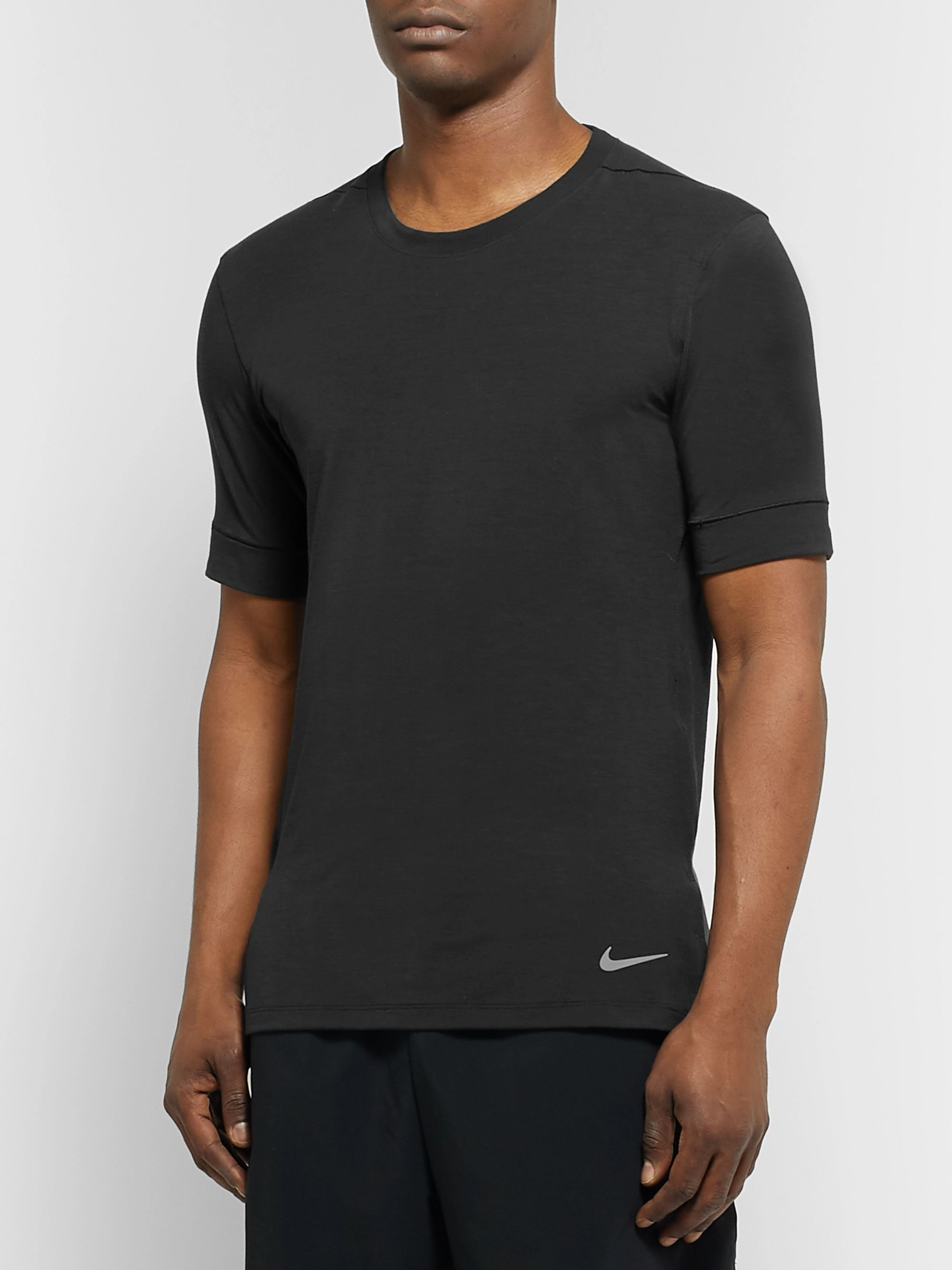 Nike Training Transcend Slim-Fit Dri-FIT Yoga T-Shirt