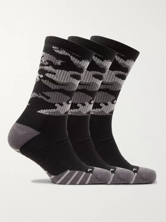 Nike Training Three-Pack Everyday Cushioned Camouflage Dri-FIT Socks