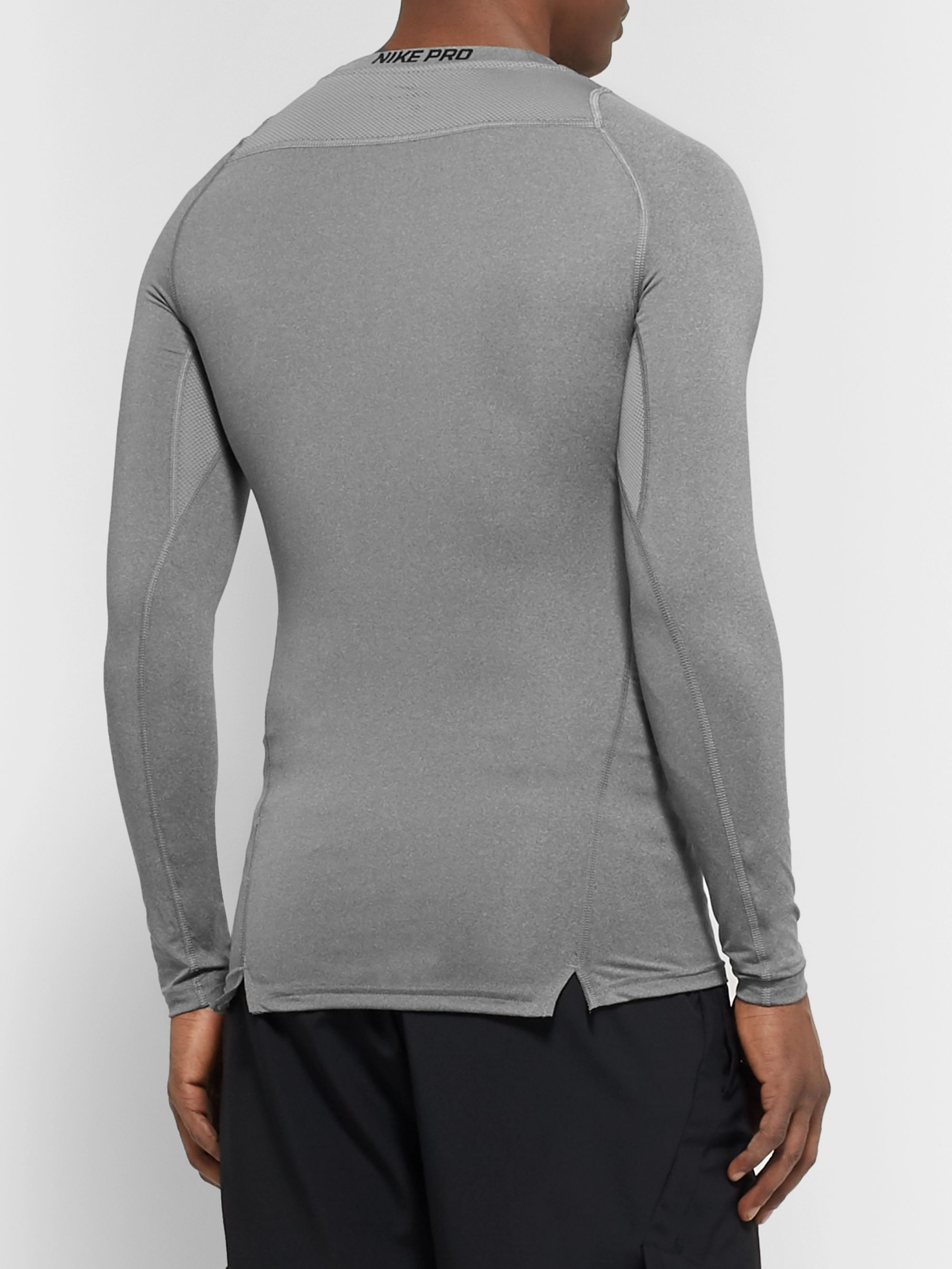 Nike Training Pro Mesh-Panelled Dri-FIT Compression Top
