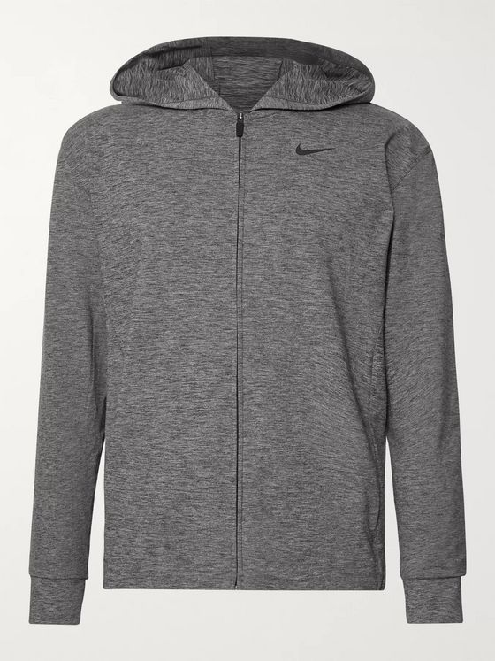 Nike Training Mélange Dri-FIT Zip-Up Yoga Hoodie