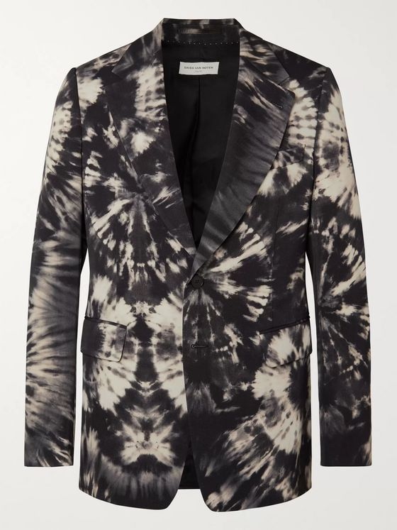Dries Van Noten Slim-Fit Tie-Dyed Wool-Twill Suit Jacket