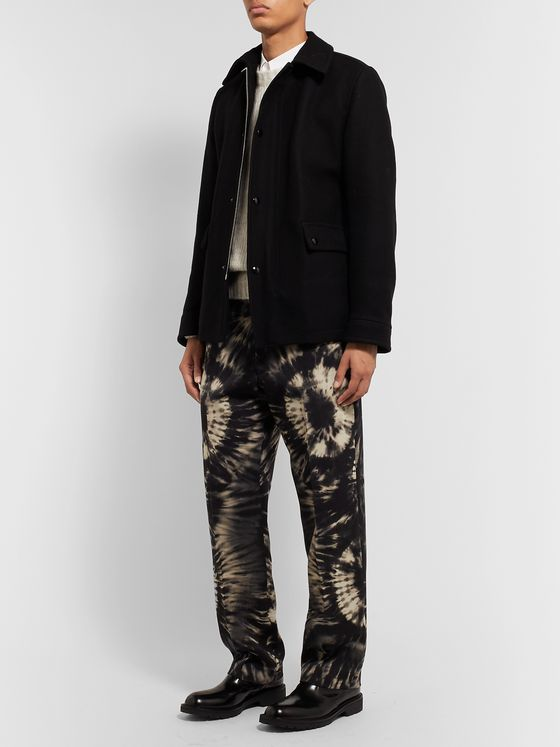 Dries Van Noten Tie-Dyed Wool-Twill Suit Trousers