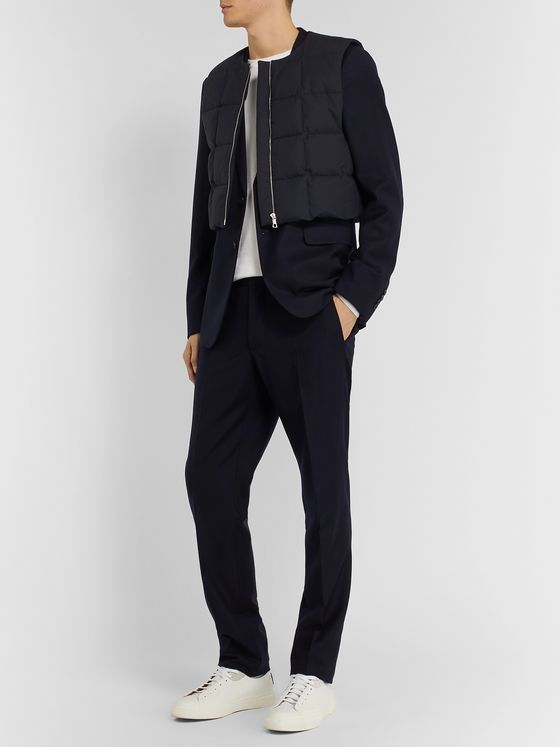 Dries Van Noten Cropped Quilted Cotton Down Gilet