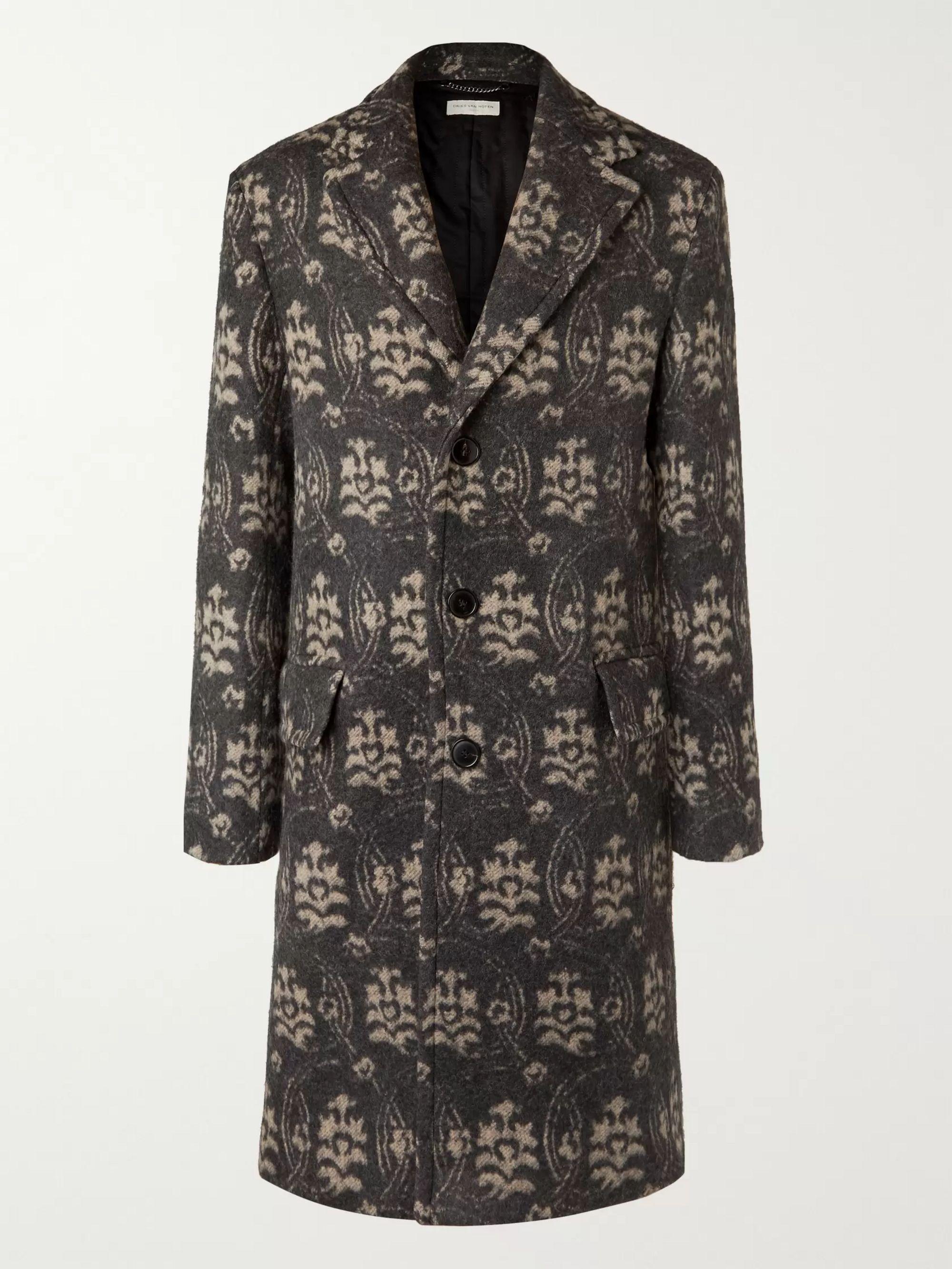 floral-jacquard-wool-blend-overcoat by dries-van-noten