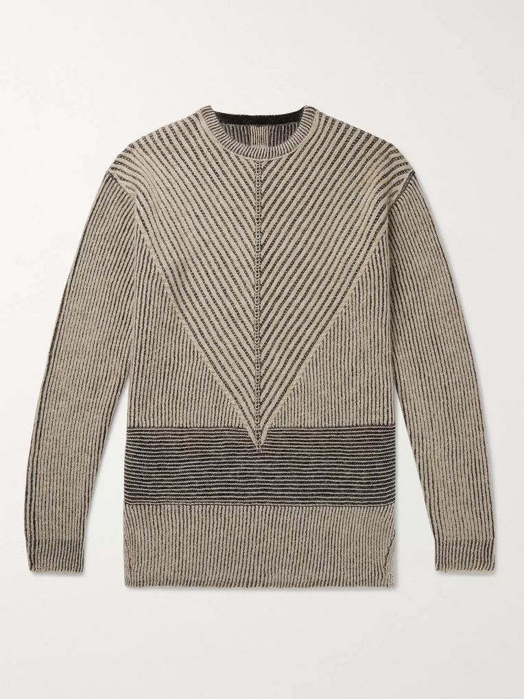Rick Owens Ribbed Virgin Wool-Blend Sweater