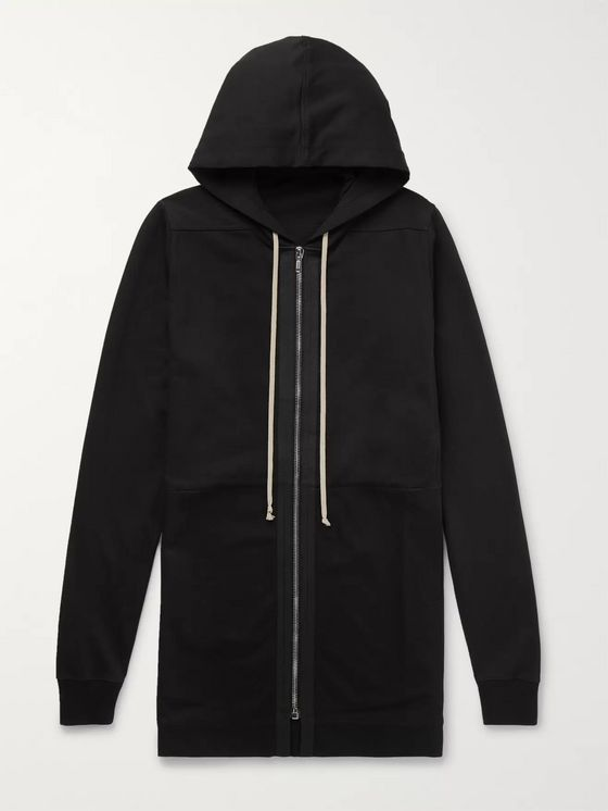 Rick Owens Cotton-Jersey Zip-Up Hoodie