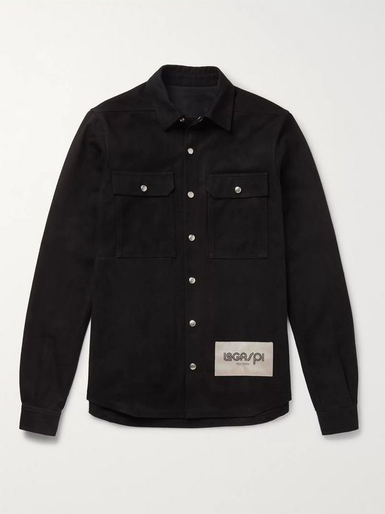 Rick Owens LeGaspi Brushed-Cotton Twill Overshirt