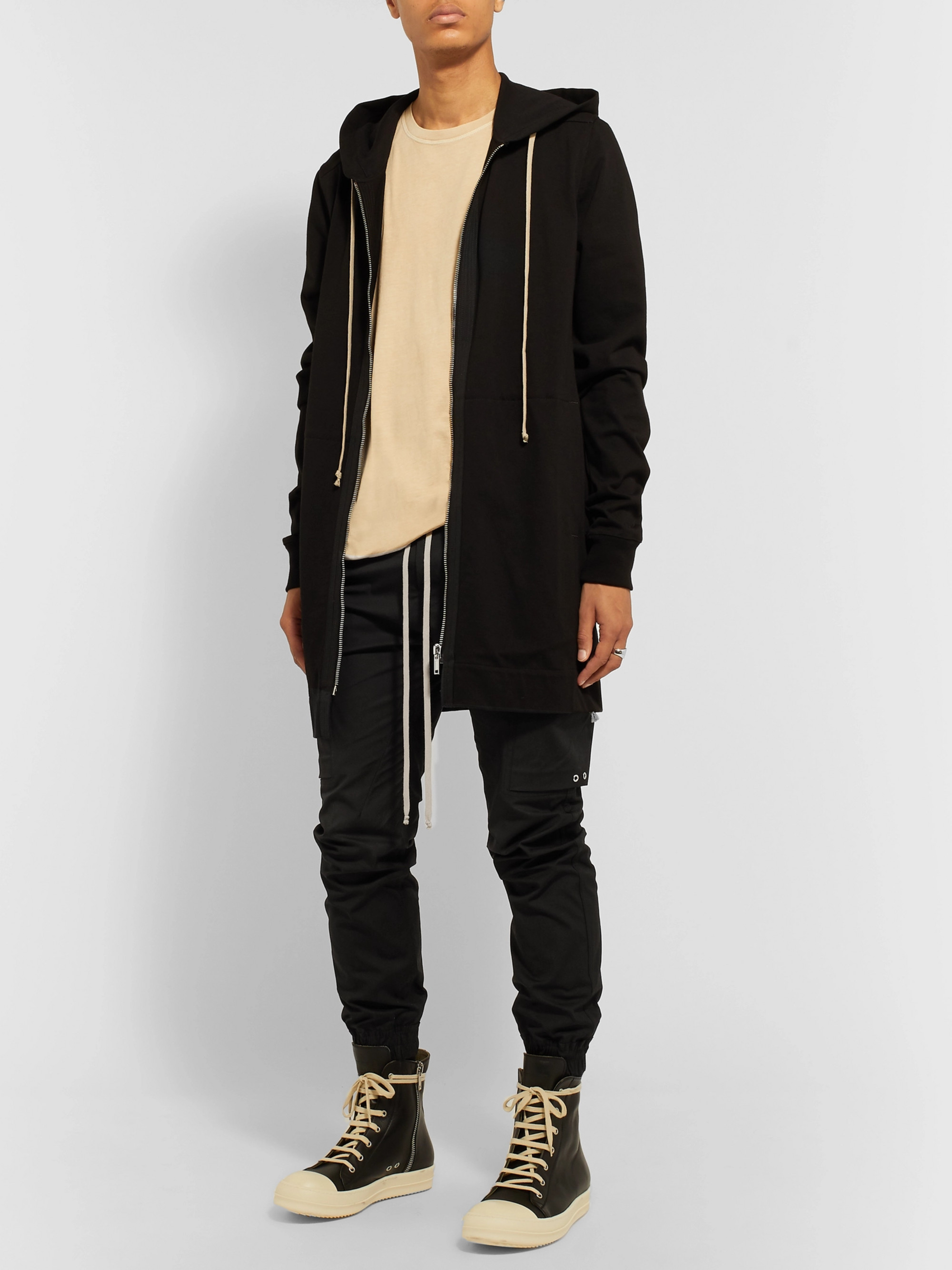 Rick Owens Slim-Fit Stretch-Cotton Cargo Trousers