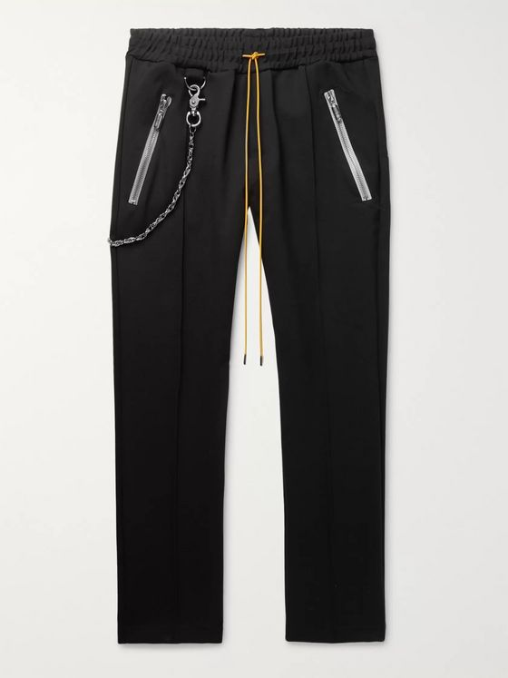 Rhude Traxedo Tapered Tech-Jersey Drawstring Trousers