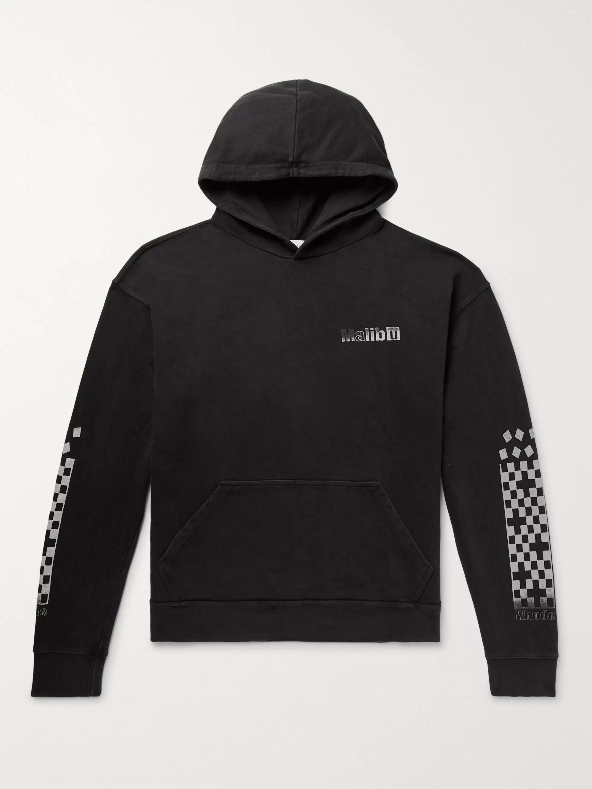 Oversized Logo Print Loopback Cotton Jersey Hoodie by Rhude