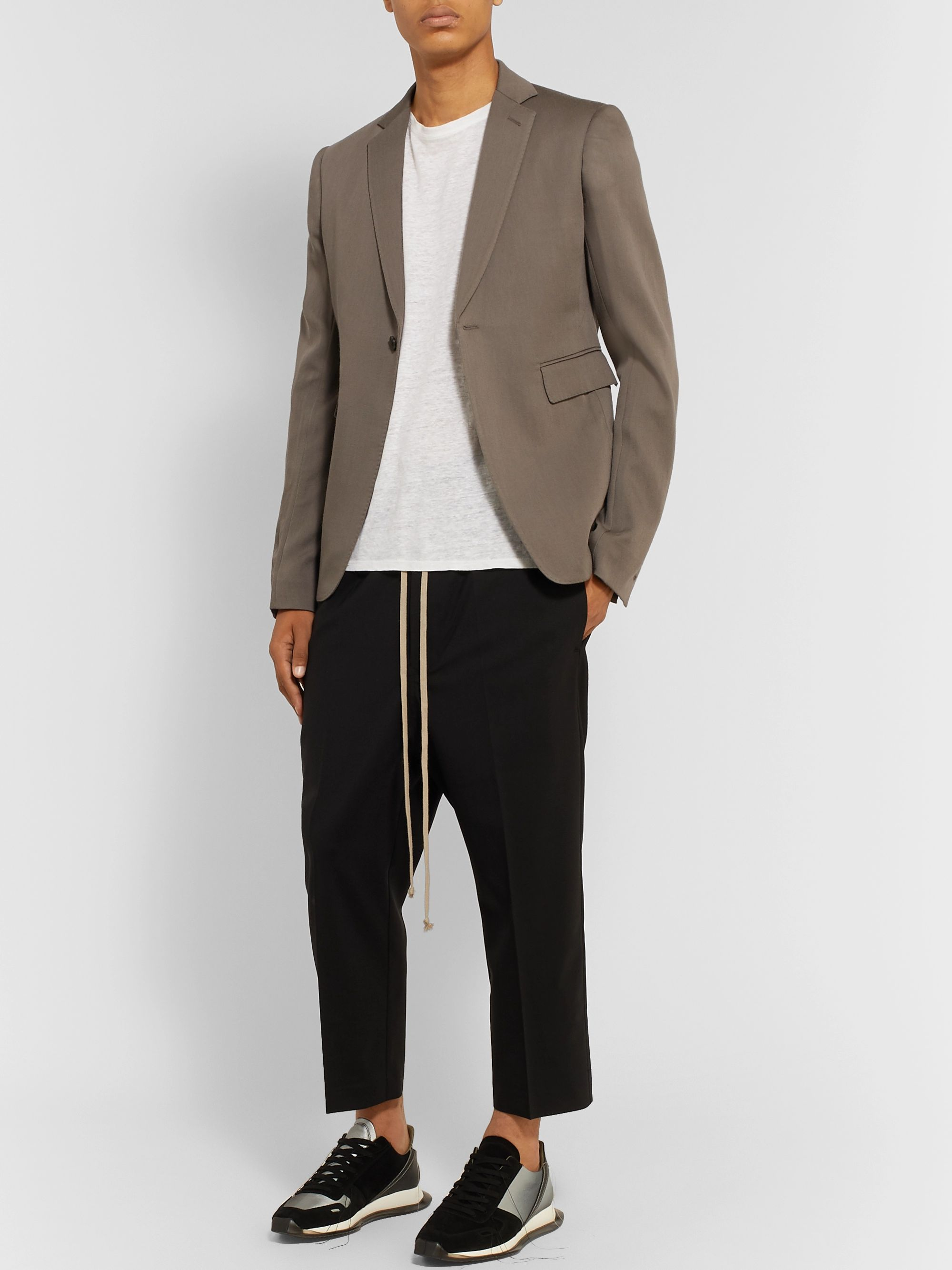 Rick Owens Grey Slim-Fit Virgin Wool Blazer