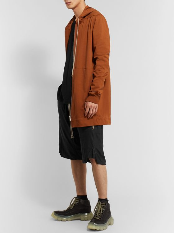 Rick Owens Leather Drawstring Shorts
