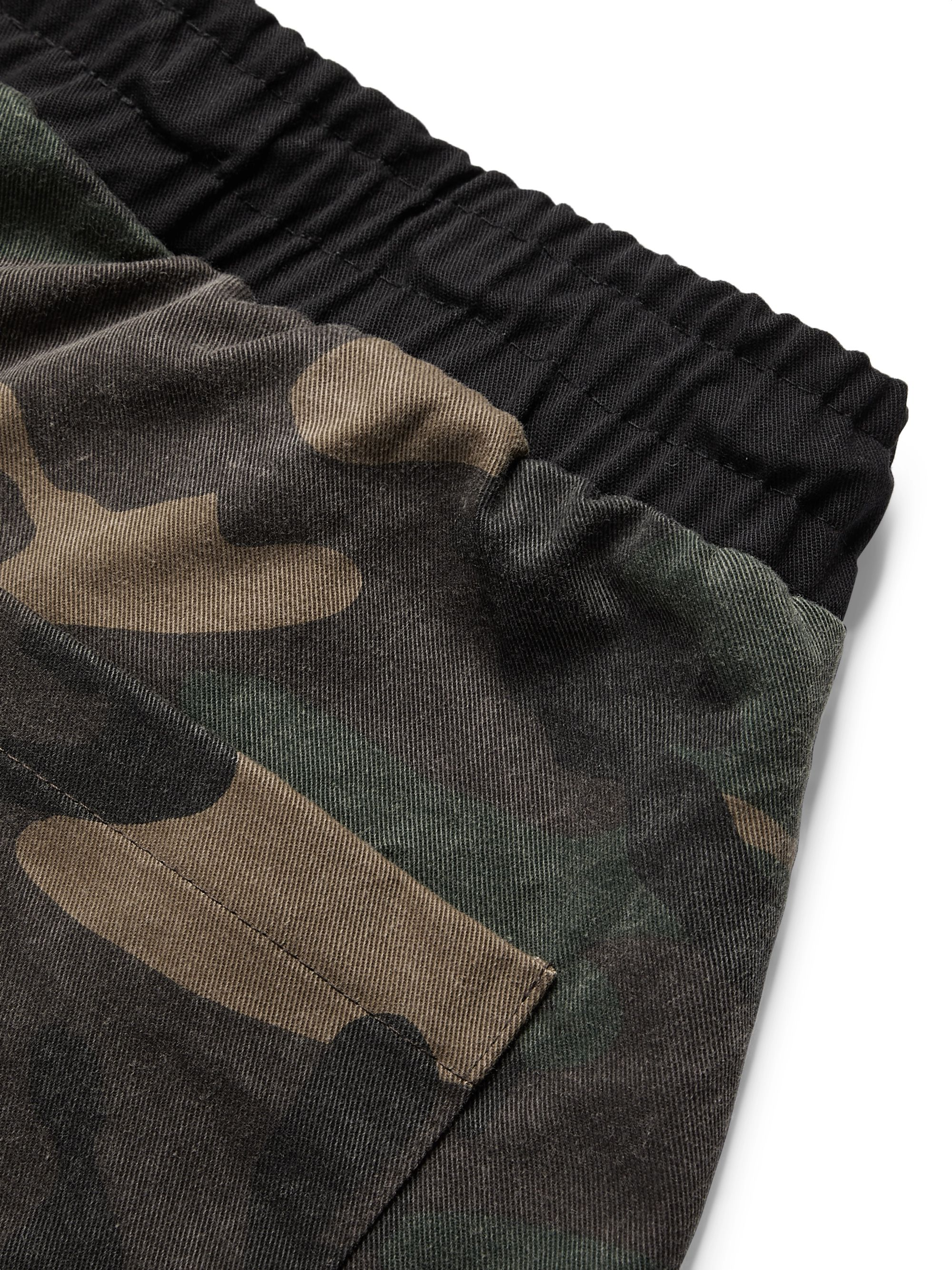 Rhude Tapered Camouflage-Print Cotton- Jersey Drawstring Trousers