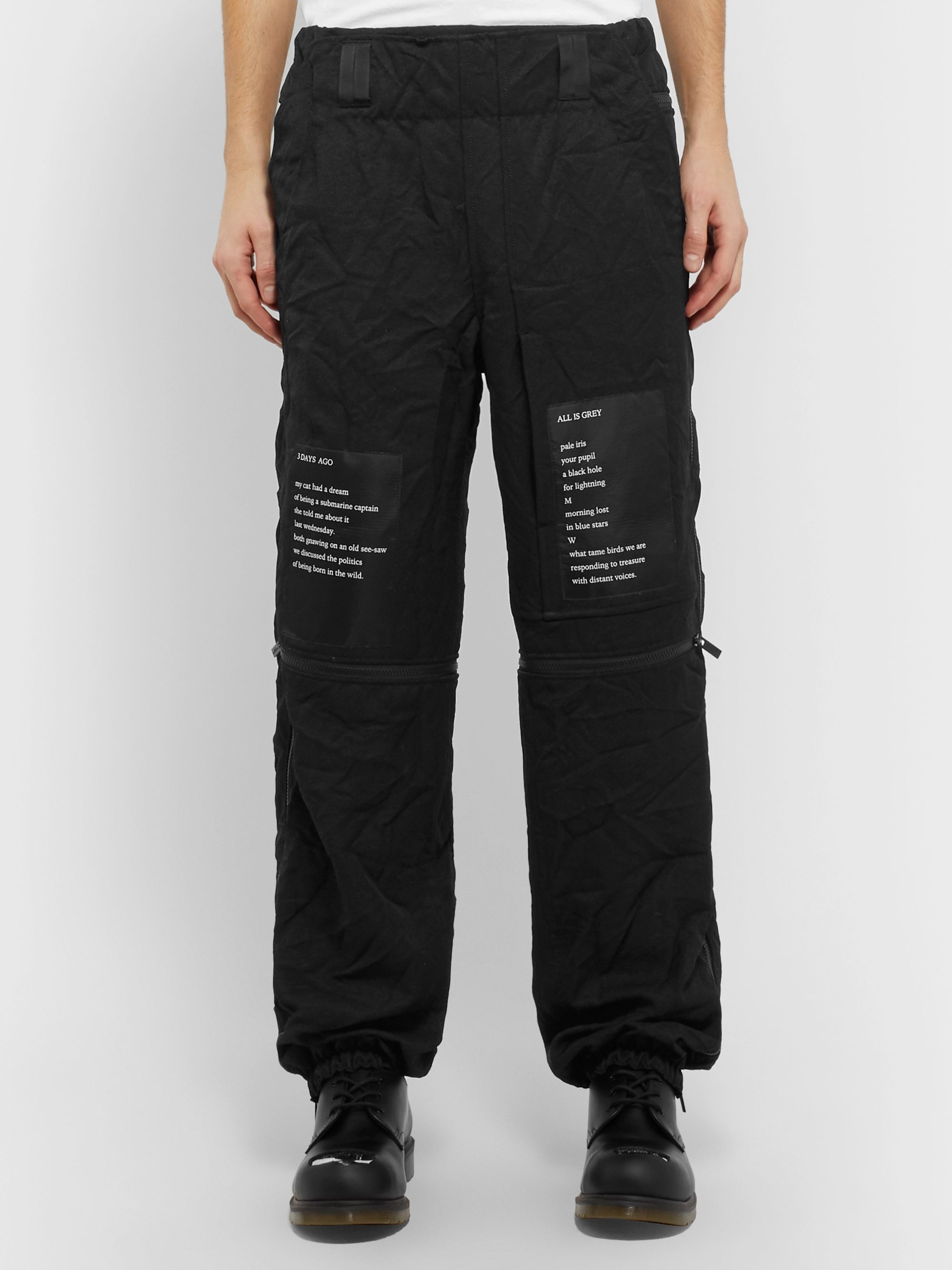 Submarine Black Zipper Pants