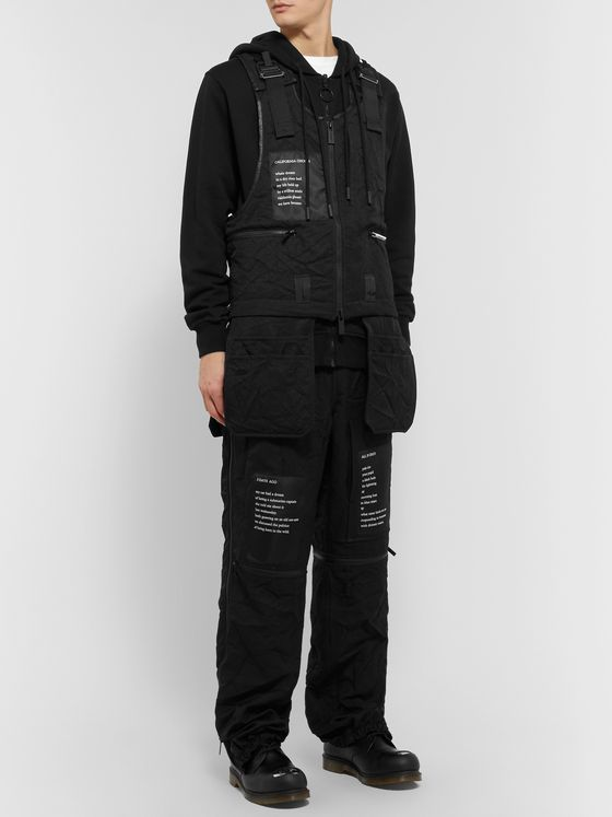 TAKAHIROMIYASHITA TheSoloist. Appliquéd Zip-Detailed Shell Trousers