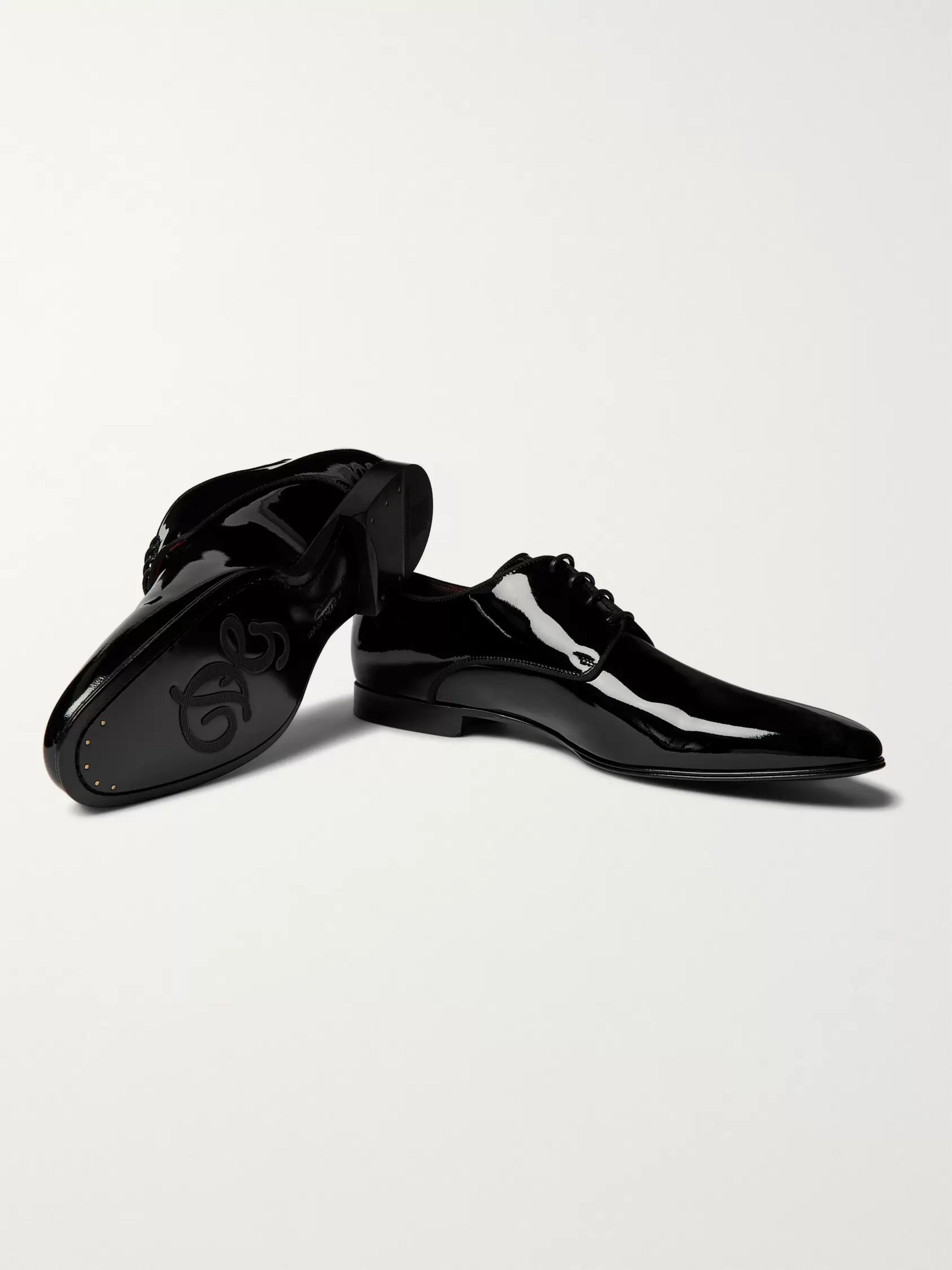 Dolce & Gabbana Patent-Leather Derby Shoes