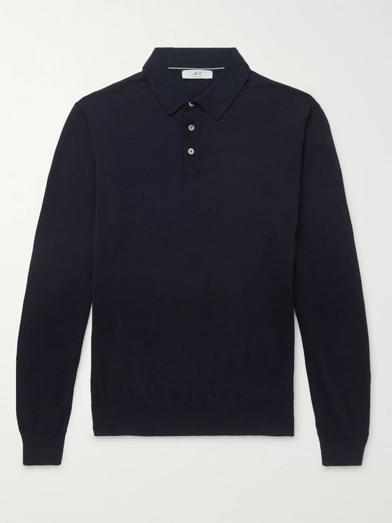 MR P. Merino Wool Polo Shirt