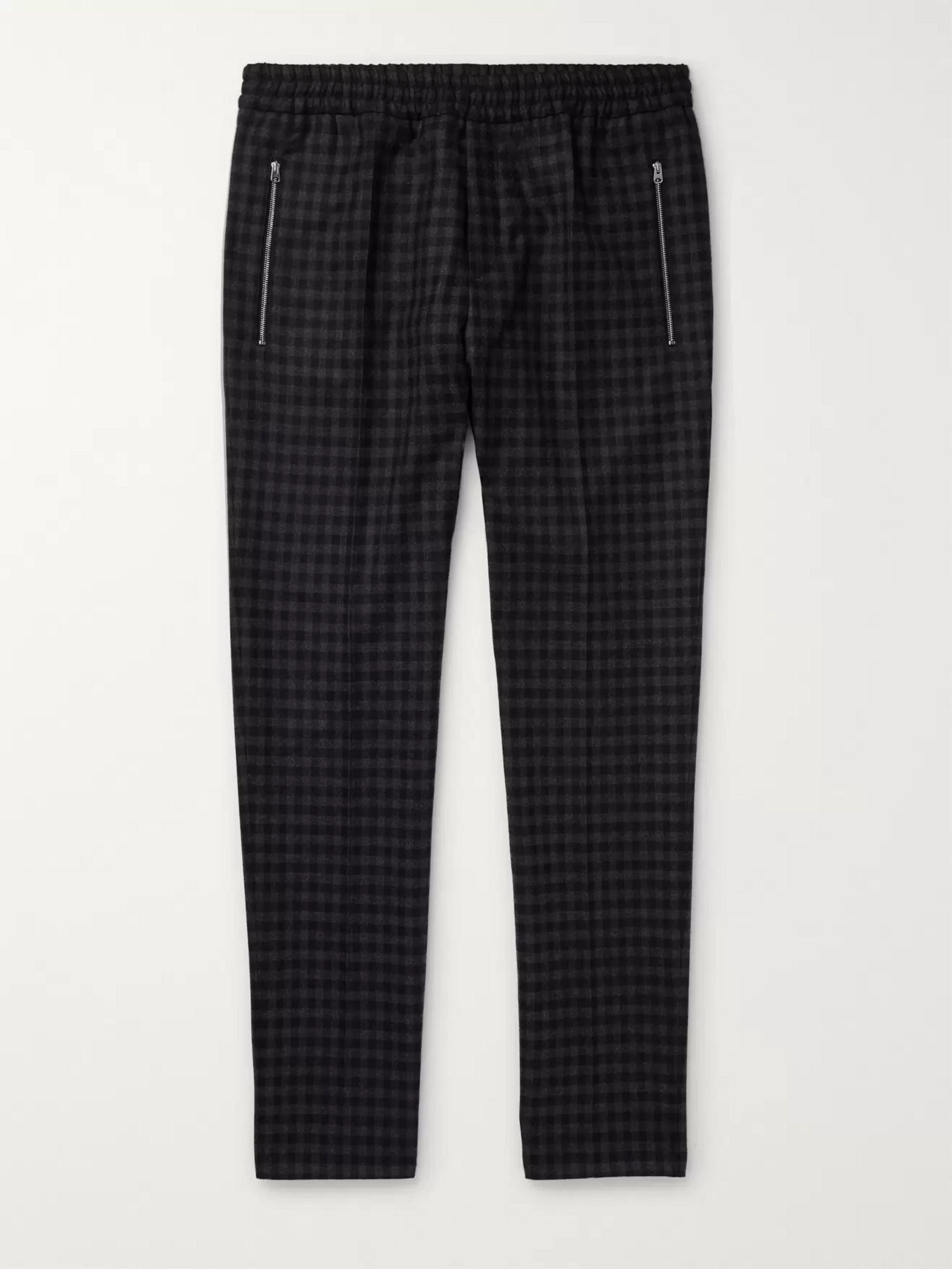 piet-slim-fit-tapered-checked-wool-trousers by stella-mccartney