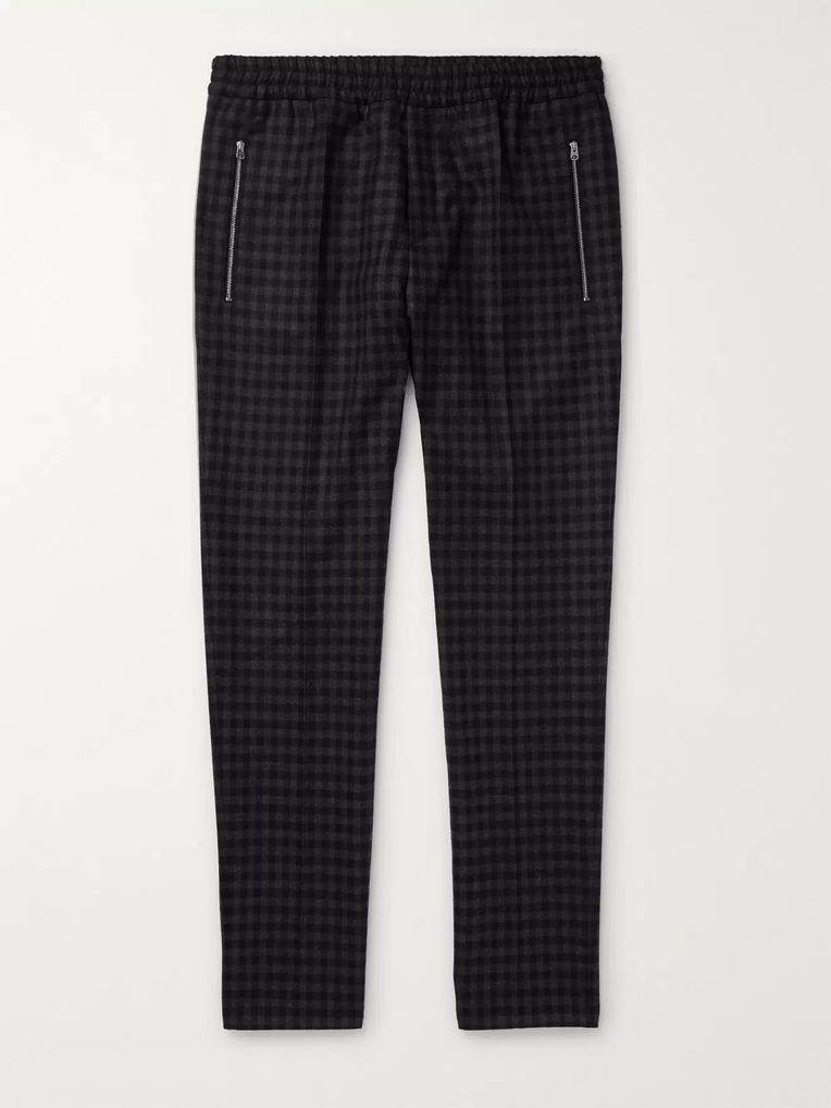 Stella McCartney Piet Slim-Fit Tapered Checked Wool Trousers