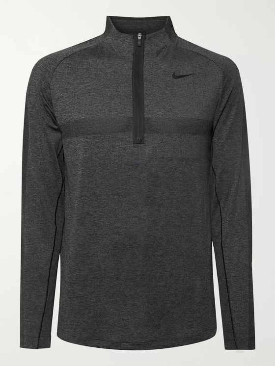Nike Golf Slim-Fit Mélange Dri-FIT Half-Zip Golf Top
