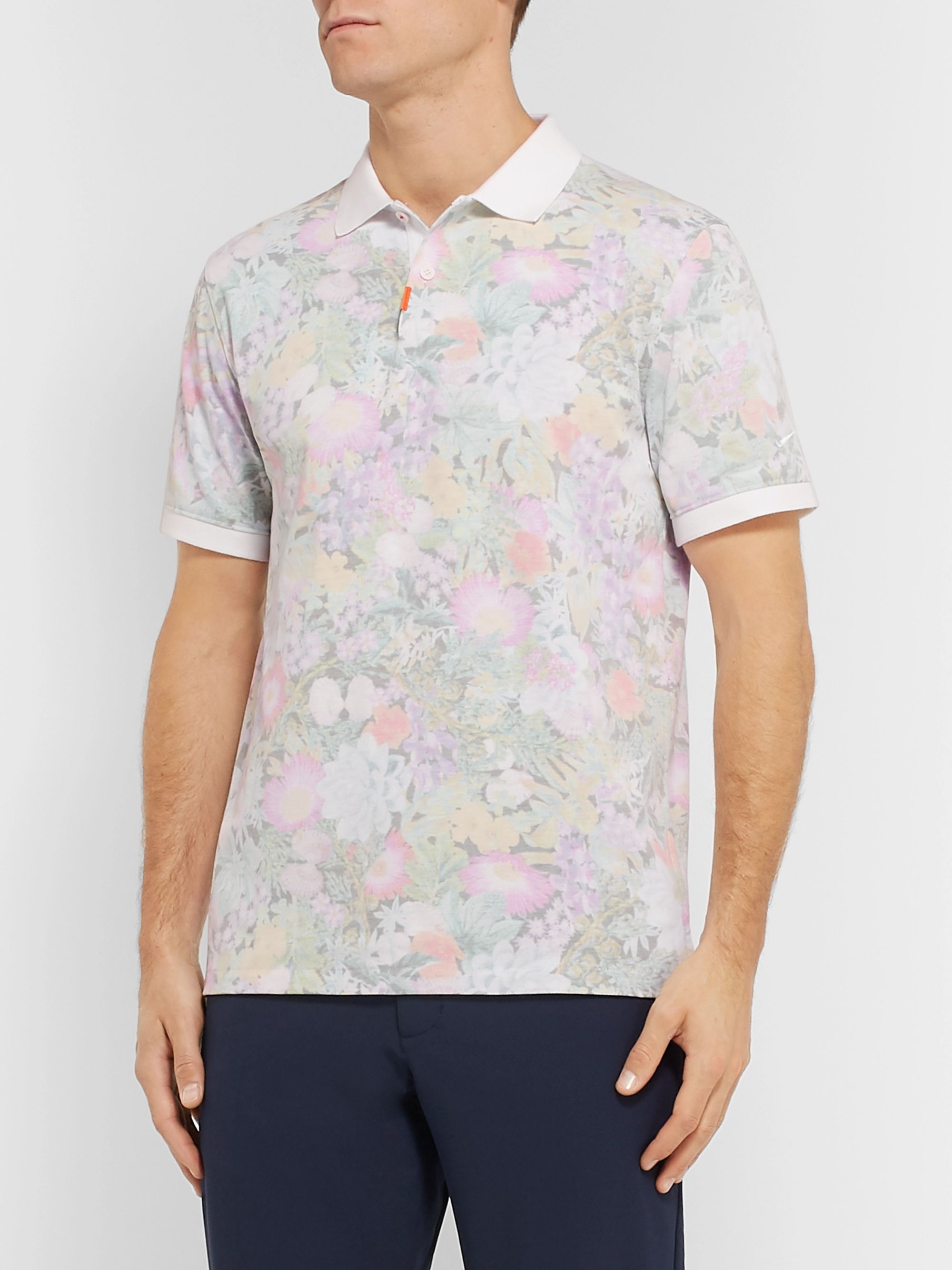 26965f98570 Floral-Print Dri-FIT Cotton-Blend Piqué Golf Polo Shirt