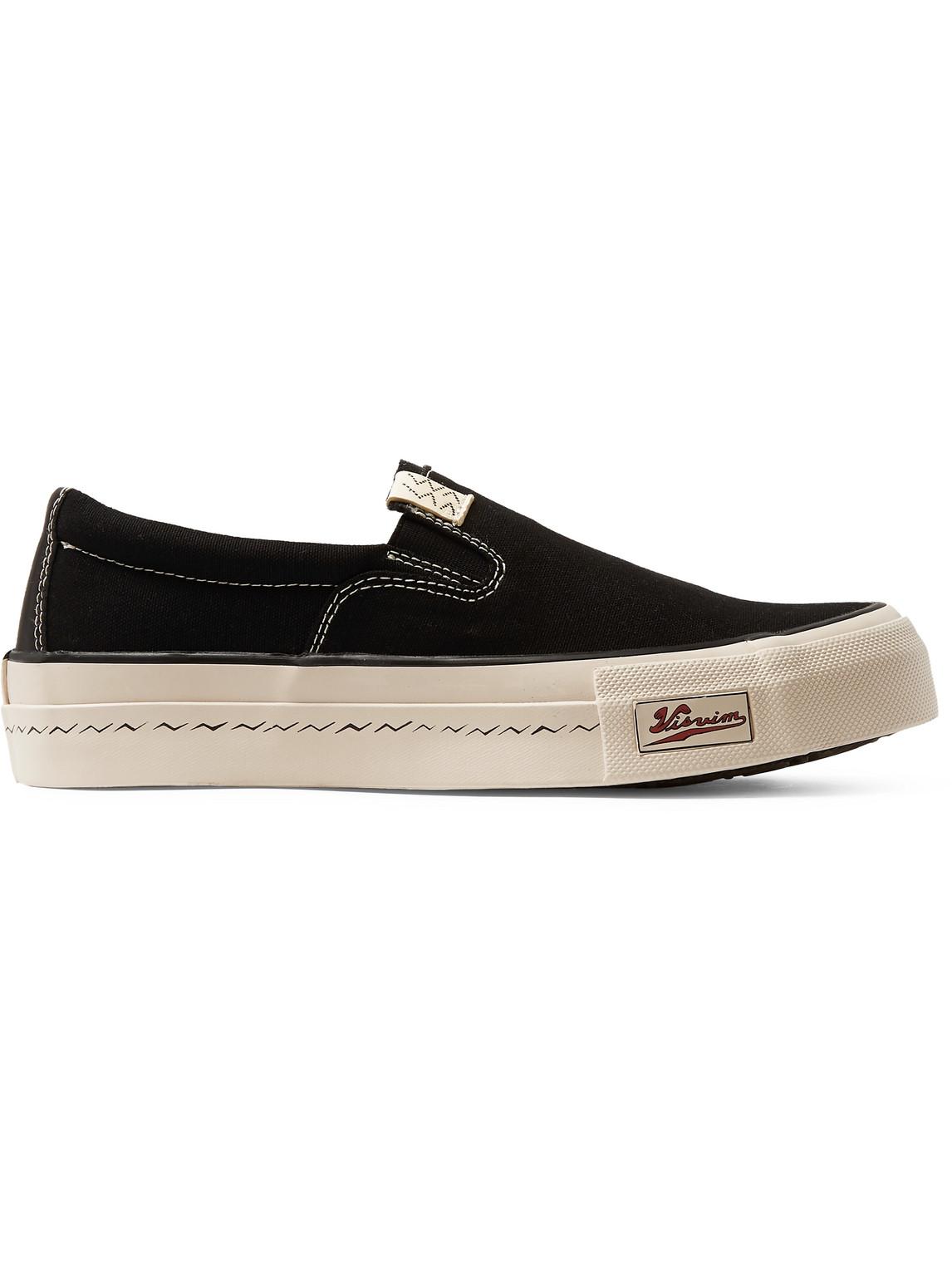Visvim - Skagway Canvas Slip-On Sneakers - Men - Black - Us 8