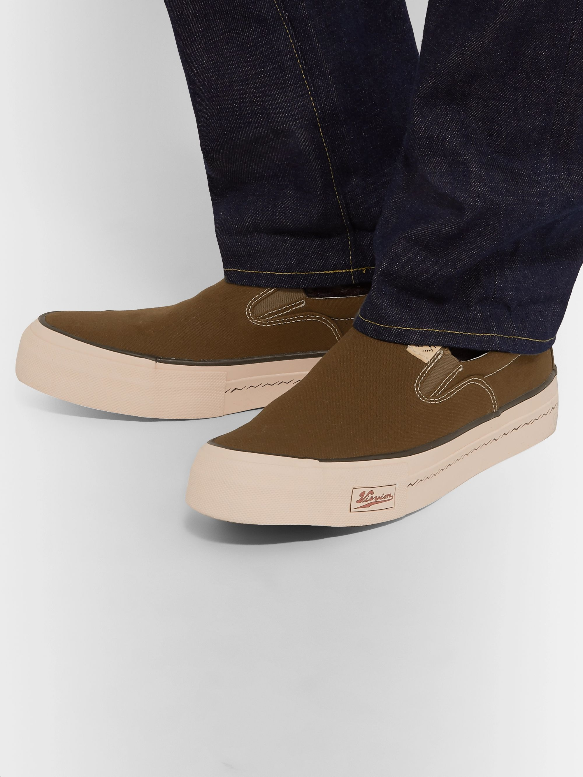 visvim Skagway Canvas Slip-On Sneakers