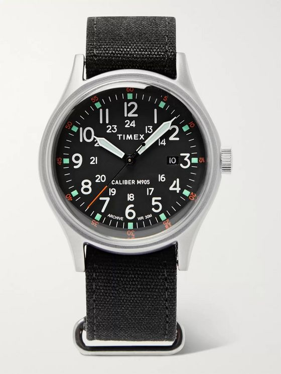 Timex MK1 Camper Aluminium and Oiled-Canvas Watch