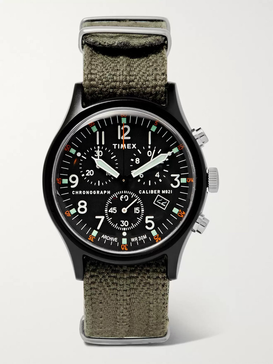 Timex MK1 Camper Chronograph 40mm Aluminium and Webbing Watch