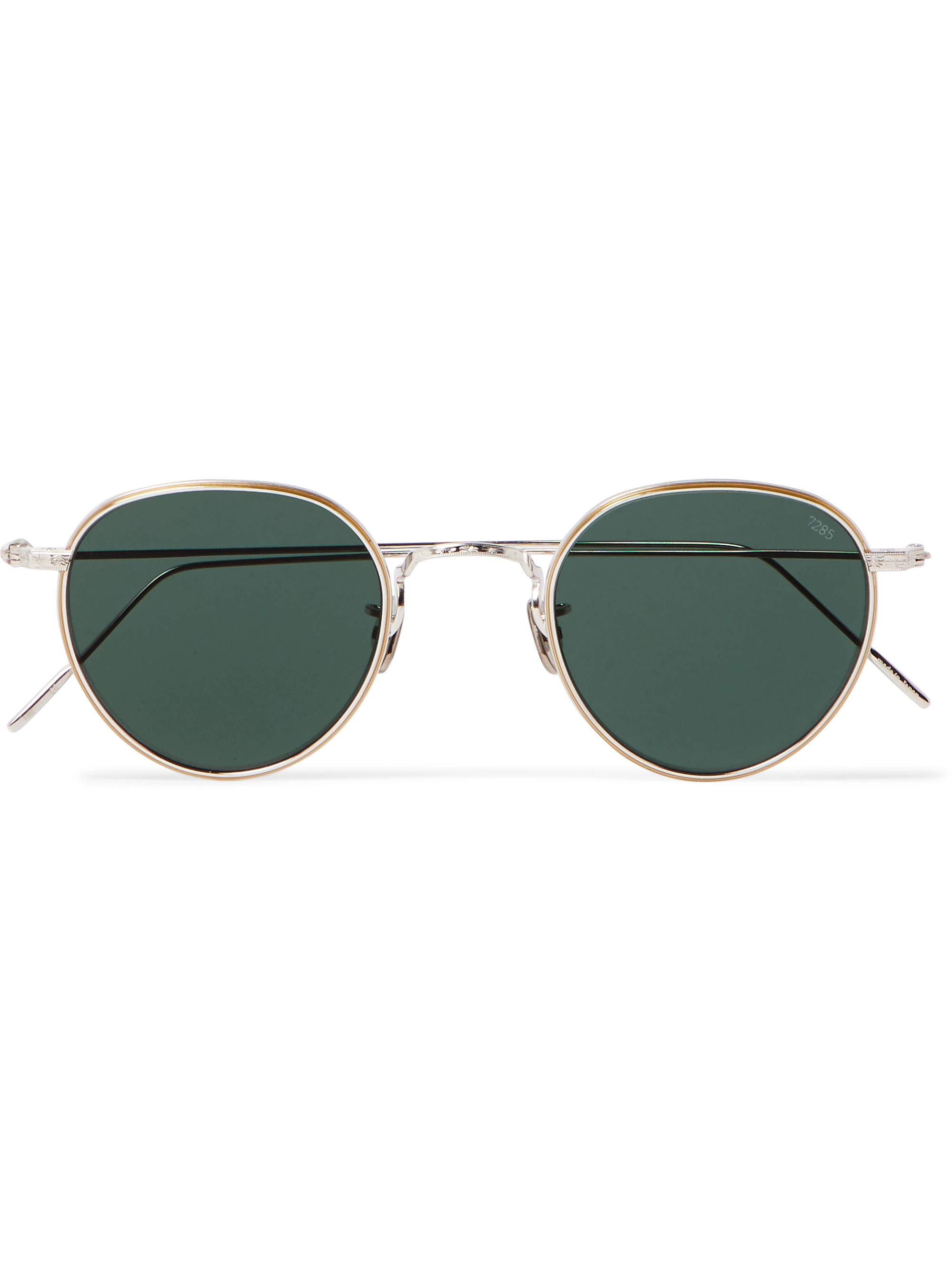 Eyevan 7285 Round-Frame Gold-Plated Sunglasses