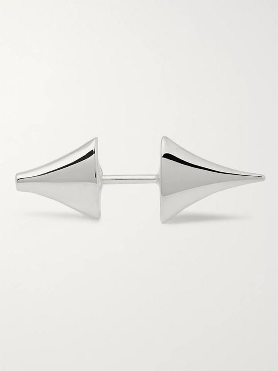 Shaun Leane Rose Thorn Silver Bar Earrings
