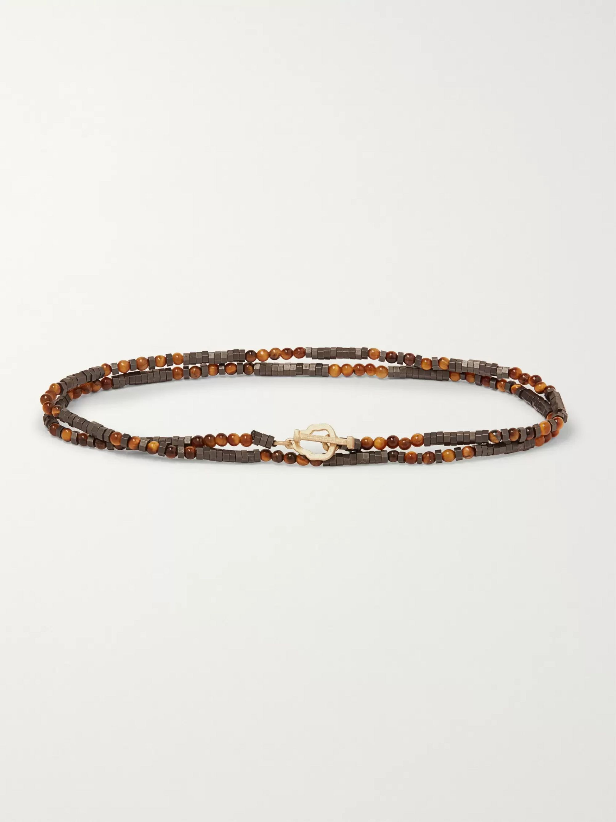Luis Morais Multi-Stone and Gold Bracelet