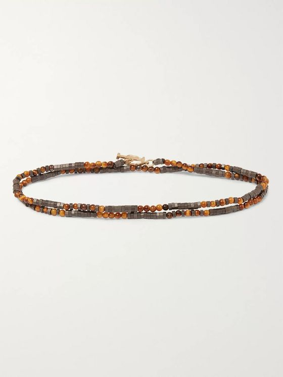 Luis Morais Bead and Gold Wrap Bracelet