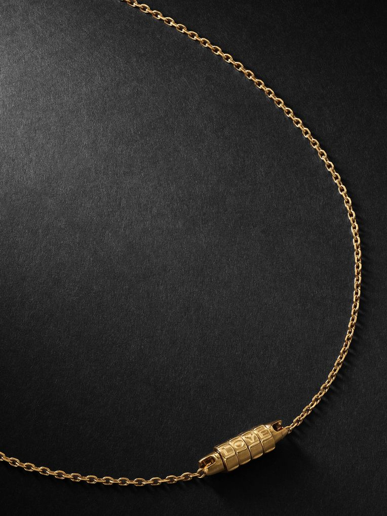 Luis Morais Love Lock Gold Necklace