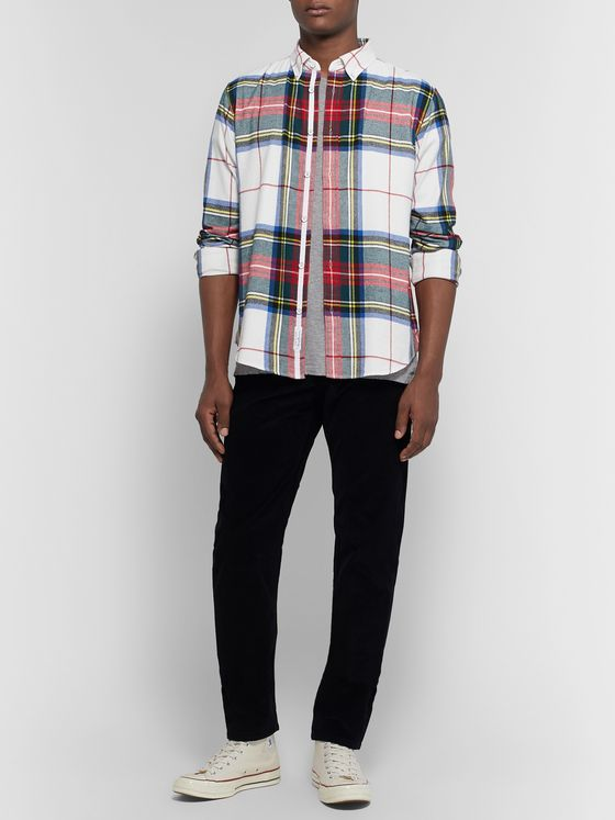 rag & bone Tomlin Slim-Fit Button-Down Collar Checked Cotton-Flannel Shirt