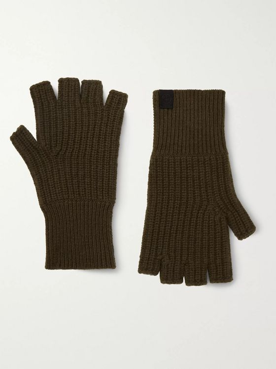 rag & bone Ace Ribbed Cashmere Fingerless Gloves