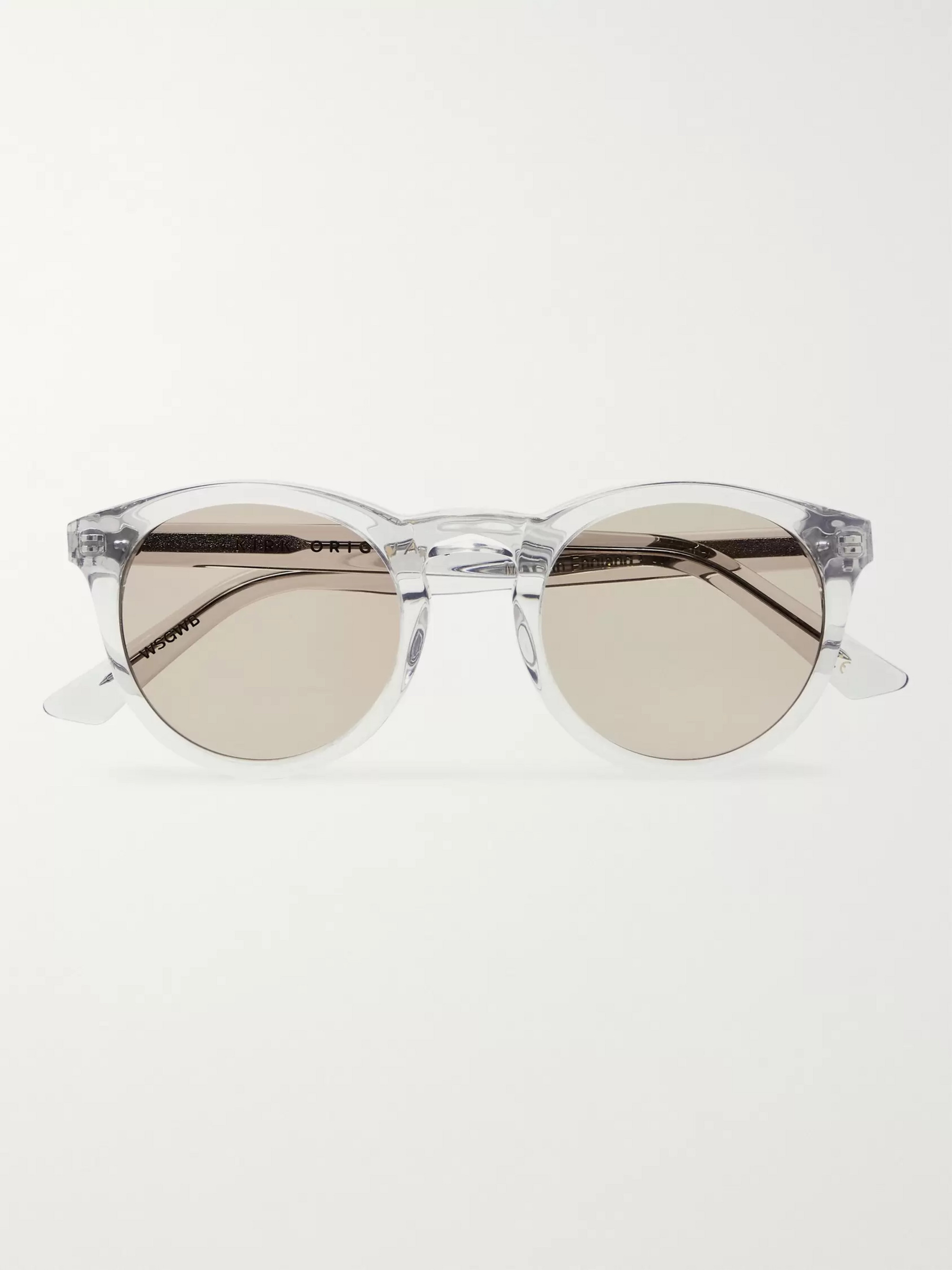 Kirk Originals Watts Round-Frame Acetate Sunglasses