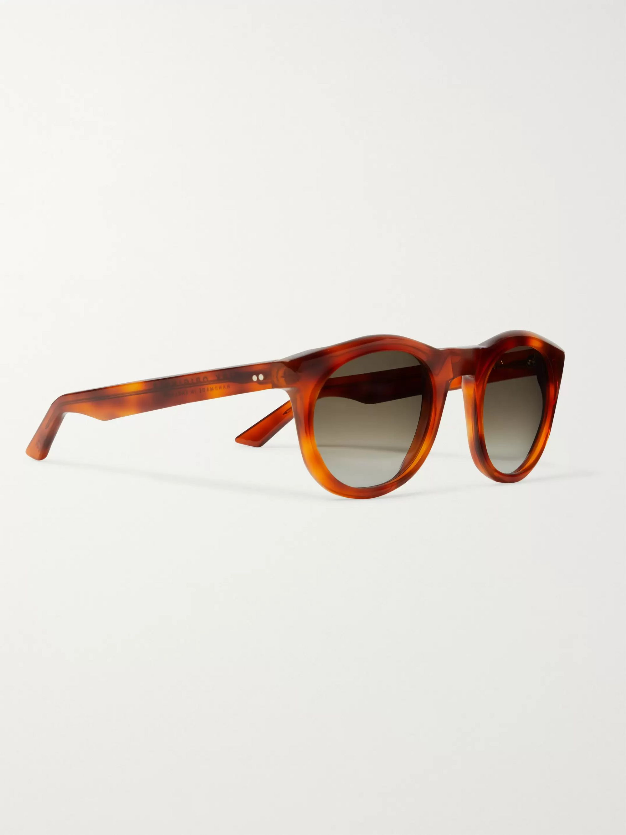 Kirk Originals Harvey Round-Frame Tortoiseshell Acetate Sunglasses