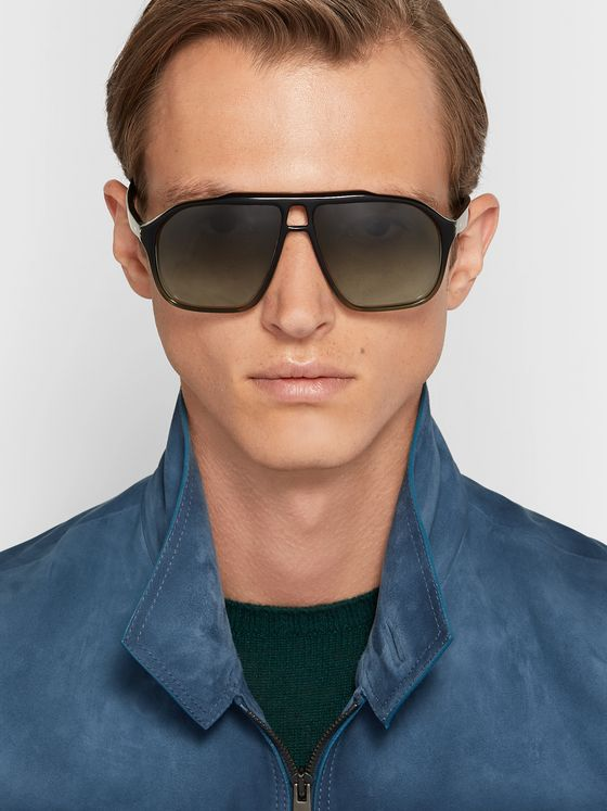 Kirk Originals Aviator-Style Acetate Sunglasses