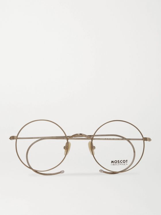 Moscot Hamish Round-Frame Gold-Tone Optical Glasses