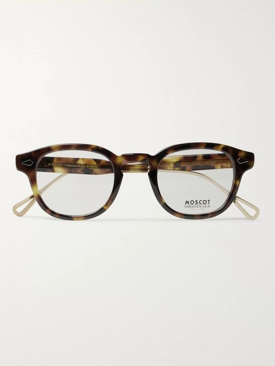 Moscot Lemtosh Round-Frame Tortoiseshell Acetate and Gold-Tone Optical Glasses