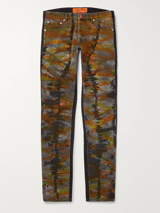 Heron Preston Slim-Fit Tie-Dyed Denim Jeans