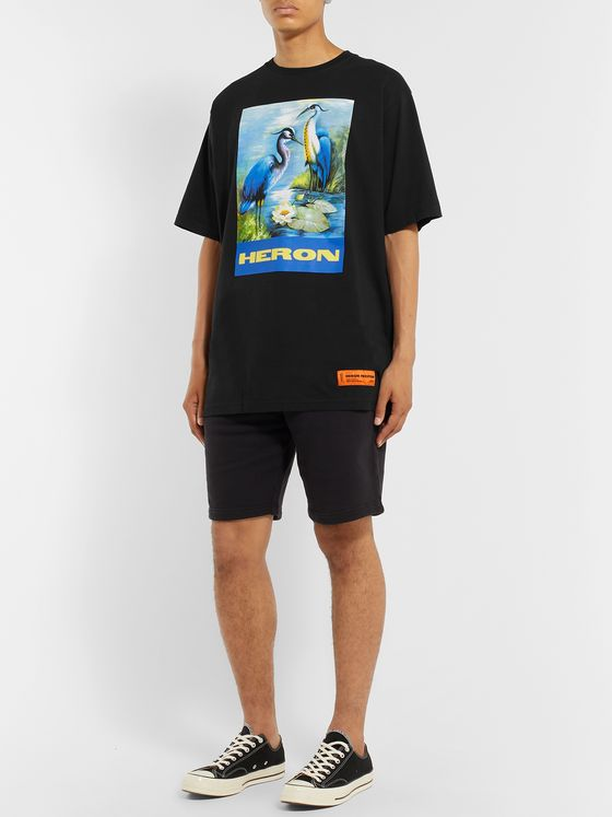 Heron Preston Oversized Printed Cotton-Jersey T-Shirt